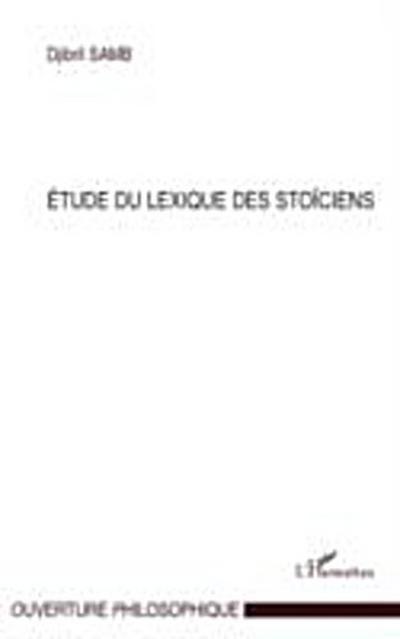 Etude du lexique des stoiciens