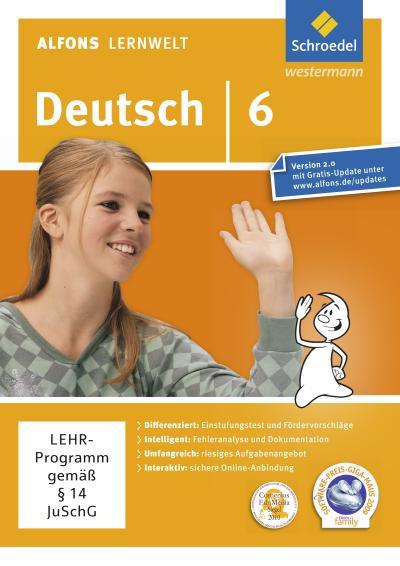 Alfons Lernwelt Lernsoftware. Deutsch 6. CD-ROM für Windows 7; Vista; XP und Mac