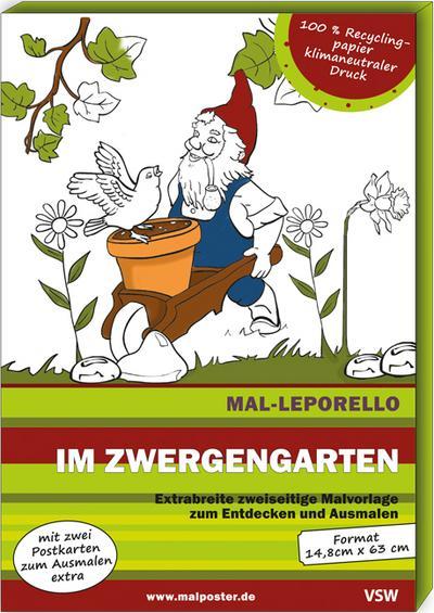 Mal-Leporello Im Zwergengarten