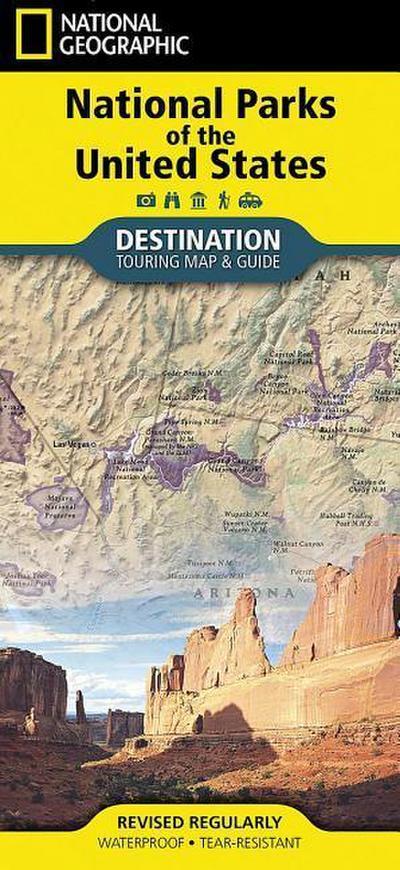 Touristische Karte National Parks of the USA
