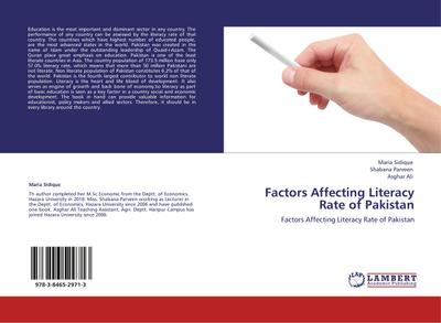 Factors Affecting Literacy Rate of Pakistan