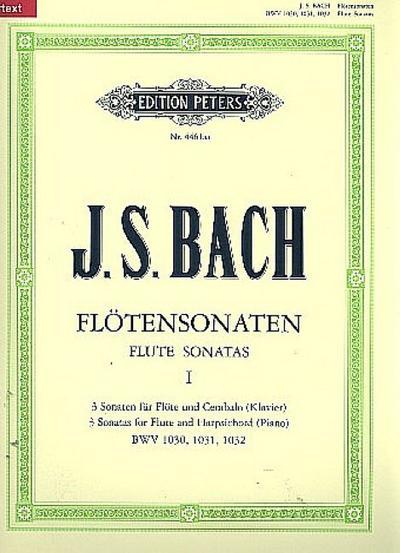 Sonaten für Flöte und Cembalo (Klavier) BWV 1030 - 1032 / URTEXT