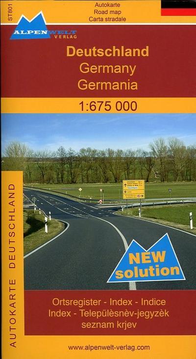 Alpenwelt Karte - Deutschland (1:675.000) - Strassenkarte