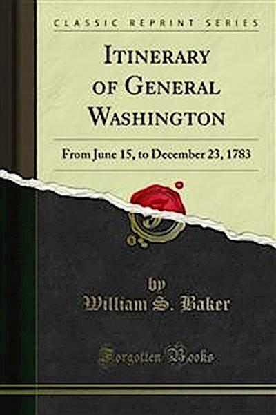 Itinerary of General Washington