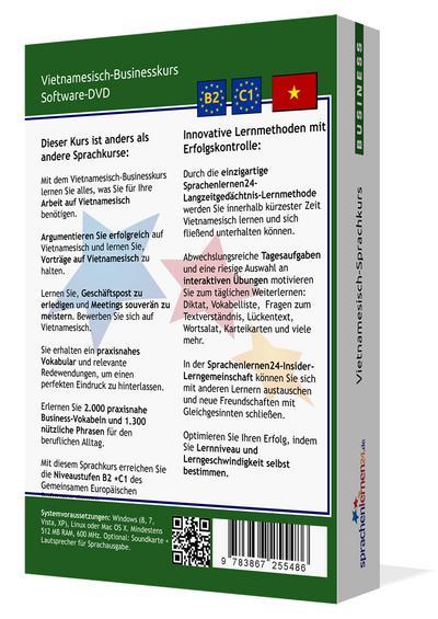 Vietnamesisch-Businesskurs, DVD-ROM Vietnamesisch-Sprachkurs mit Langzeitgedächtnis-Lernmethode. Niveau B2/C1. Integrierte Sprachausgabe mit über 3300 Audio-Vokabeln und Redewendungen