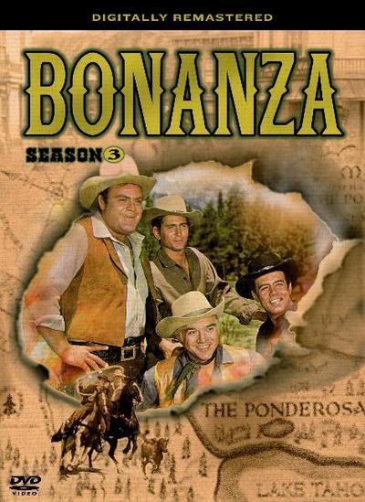 Bonanza, 4 DVD-Videos, dtsch. u. engl. Version