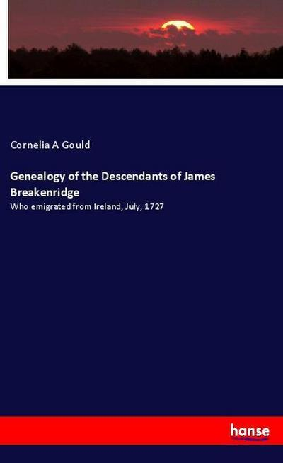 Genealogy of the Descendants of James Breakenridge