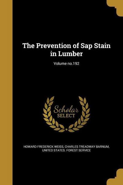 PREVENTION OF SAP STAIN IN LUM