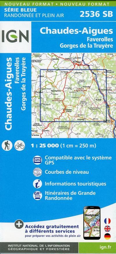 Chaudes-Aigues 1:25 000