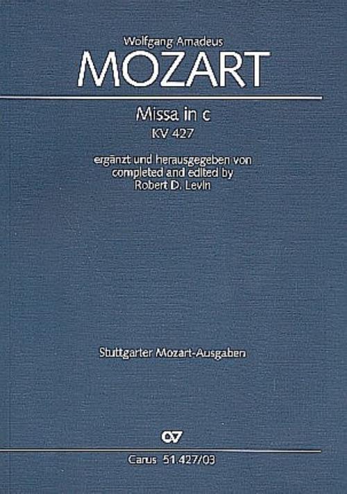 Missa c-Moll KV 427, Klavierauszug Wolfgang Amadeus Mozart