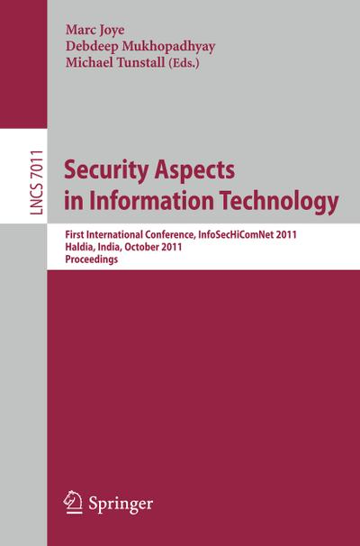 Security Aspects in Information Technology