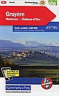 Radwanderkarte Gruyère - Montreux - Gstaad mit Ortsindex (15)