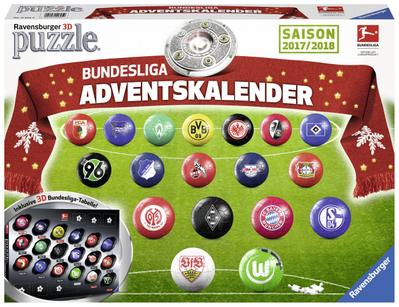 Bundesliga Adventskalender 2017: Erlebe Puzzeln in der 3. Dimension