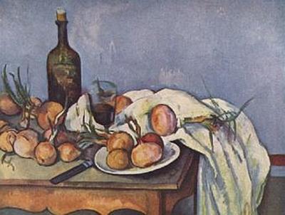 Paul Cézanne - Stilleben mit Flasche und Zwiebeln - 100 Teile (Puzzle)