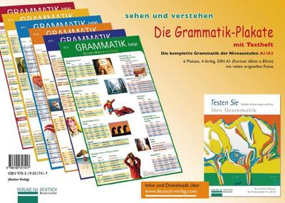 Die Grammatik-Plakate. Testheft und 6 Plakate