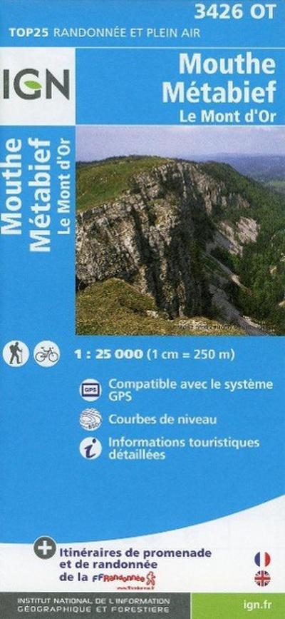 Mouthe / Métabief / Le Mont d'Or 1 : 25 000