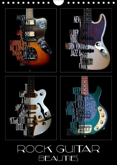 Rock Guitar Beauties (Wall Calendar 2019 DIN A4 Portrait)