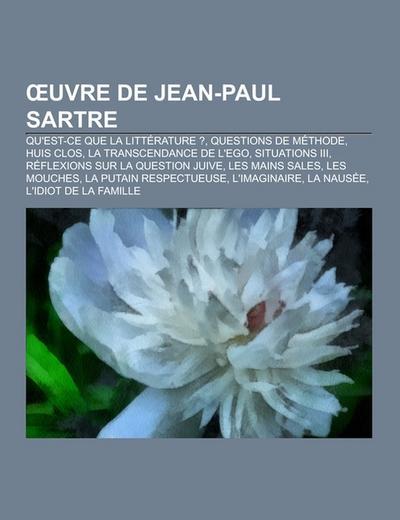 OEuvre de Jean-Paul Sartre