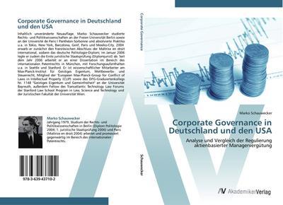 Corporate Governance in Deutschland und den USA