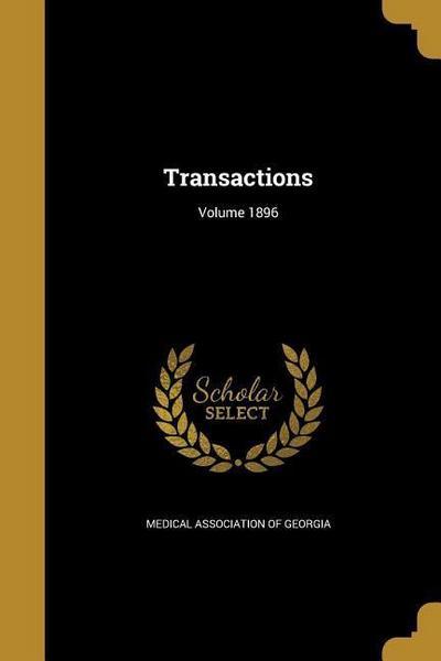 TRANSACTIONS VOLUME 1896