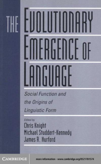 Evolutionary Emergence of Language