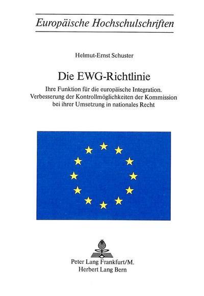 Die EWG-Richtlinie