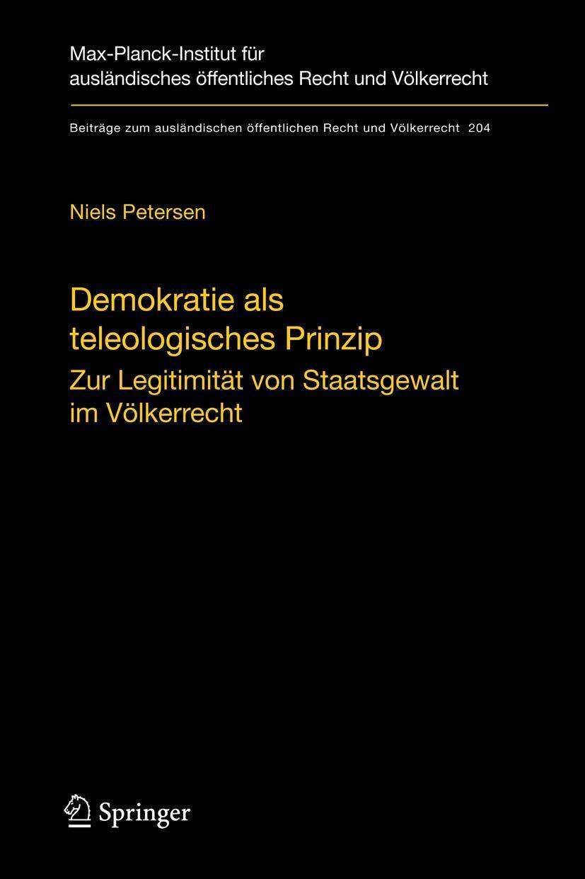 Demokratie als teleologisches Prinzip Niels Petersen