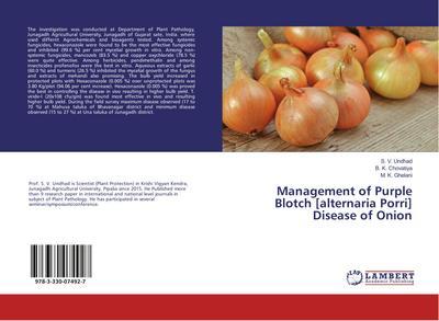 Management of Purple Blotch [alternaria Porri] Disease of Onion