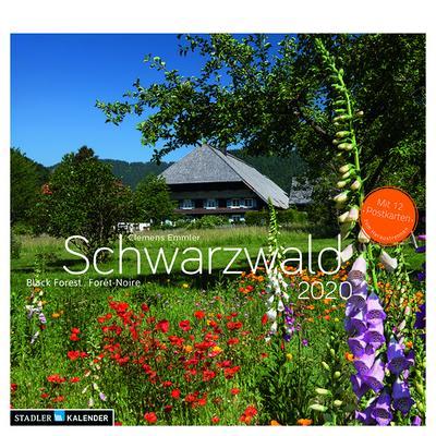 Schwarzwald 2020 Postkarten-Tischkalender