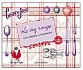 Le coq rouge - Feine Etiketten & Motivsticker: (Verkaufseinheit)