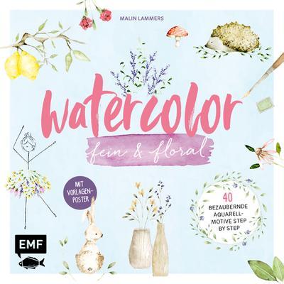Watercolor fein und floral