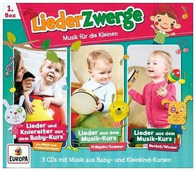 3er Box LiederZwerge 01 (Pekip, Musik-Kurs Vol. 1 & Vol. 2)