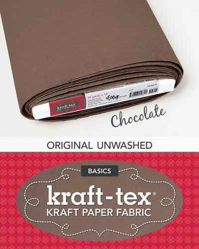 Kraft-Tex Bolt Chocolate Original Unwashed: Kraft Paper Fabric, 19' X 10 Yard Bolt