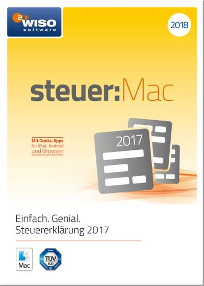 WISO steuer:Mac 2018 (für Steuerjahr 2017) - Buhl Data - CD-ROM, Deutsch, , Steuererklärung 2017 - Einfach. Genial.. Mit Gratis-Apps. Macintosh, Steuererklärung 2017 - Einfach. Genial.. Mit Gratis-Apps. Macintosh