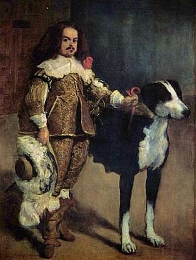 Diego Velázquez - Hofzweg mit Hund - 200 Teile (Puzzle)