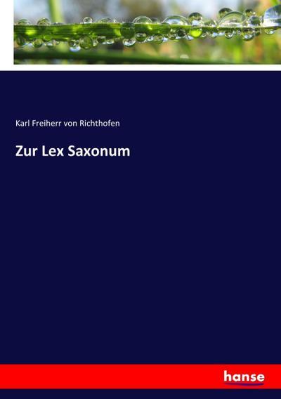 Zur Lex Saxonum