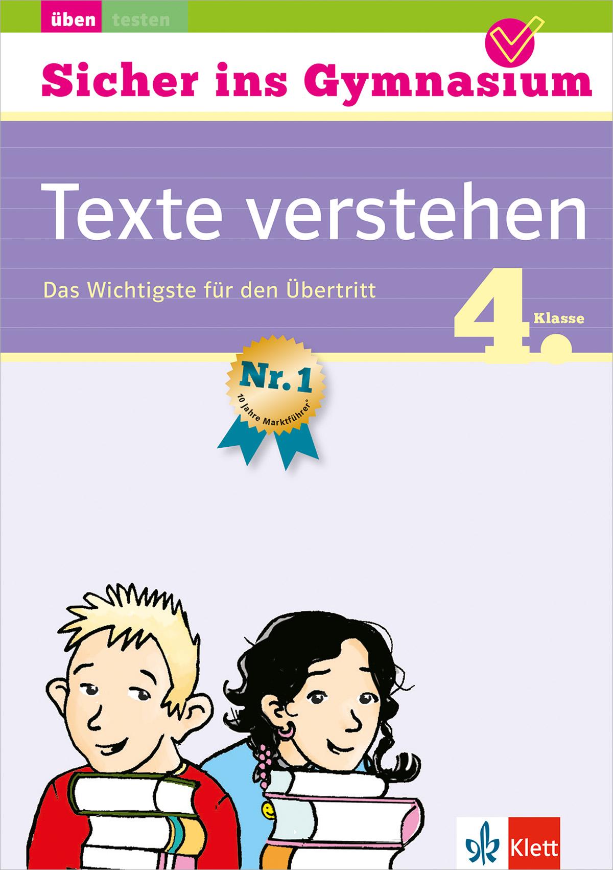 Klett Sicher ins Gymnasium Deutsch Texte verstehen 4. Klasse: Das Wichtigst ...
