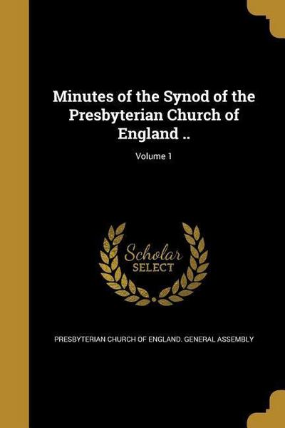 MINUTES OF THE SYNOD OF THE PR