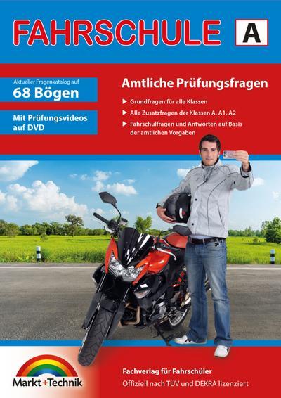 Führerschein Fragebogen Klasse A, A1, A2 - Motorrad Theorieprüfung original amtlicher Fragenkatalog auf 70 Bögen