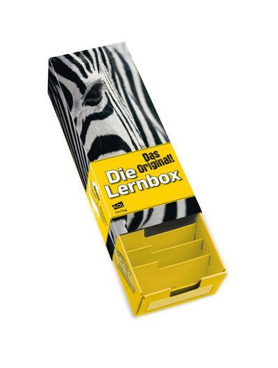 Die Lernbox (DIN A8) - Design: Zebra: Lernbox zum Selbstbefüllen, fertig montiert