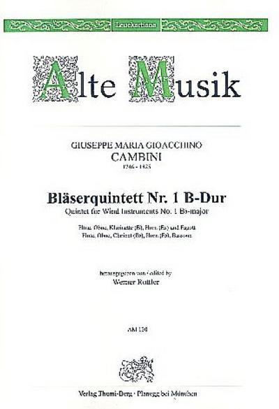 Quintett B-Dur Nr.1 :für Flöte, Oboe, Klarinette, Horn und Fagott