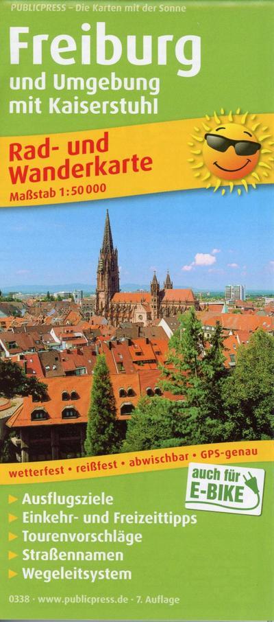 Freiburg und Umgebung mit Kaiserstuhl: Rad- und Wanderkarte mit Ausflugszielen, Einkehr- & Freizeittipps, wetterfest, reissfest, abwischbar, GPS-genau. 1:50000 (Rad- und Wanderkarte: RuWK)
