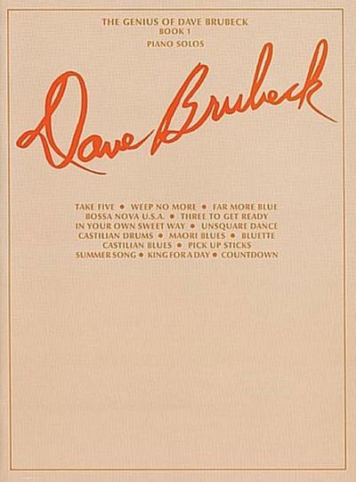The Genius of Dave Brubeck, Bk 1: Piano Solos