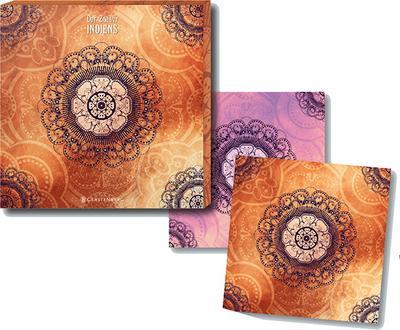 Der Zauber Indiens - Untersetzer orange (2er Set)