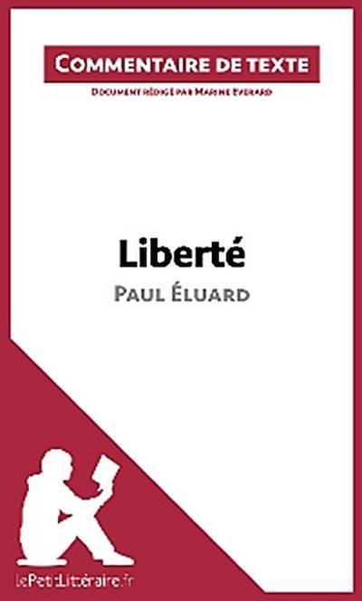 Liberté de Paul Éluard