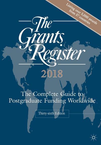 The Grants Register 2018
