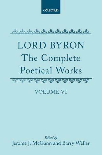 The Complete Poetical Works: Volume 6