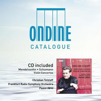 Ondine Catalogue & CD Mendelssohn Violin CTOS