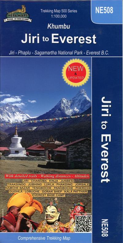 Jiri to Everest (Khumbu) 1 : 100 000