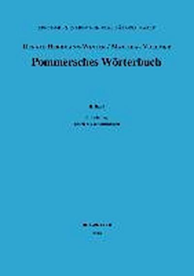 Pommersches Wörterbuch II/6